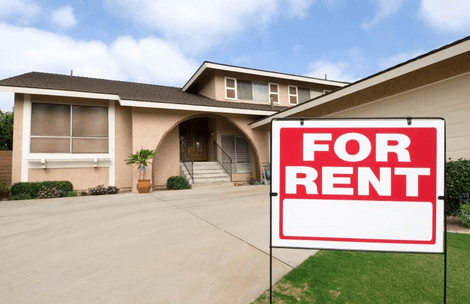 House With A For Rent Sign