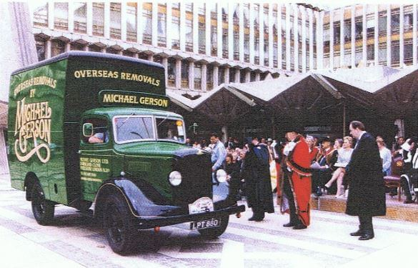A Classic Gerson Overseas Removals Van
