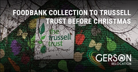 Celebrating And Delivering Another Foodbank Collection To Trussell Trust Before Christmas